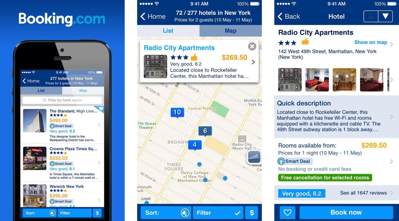booking .com app