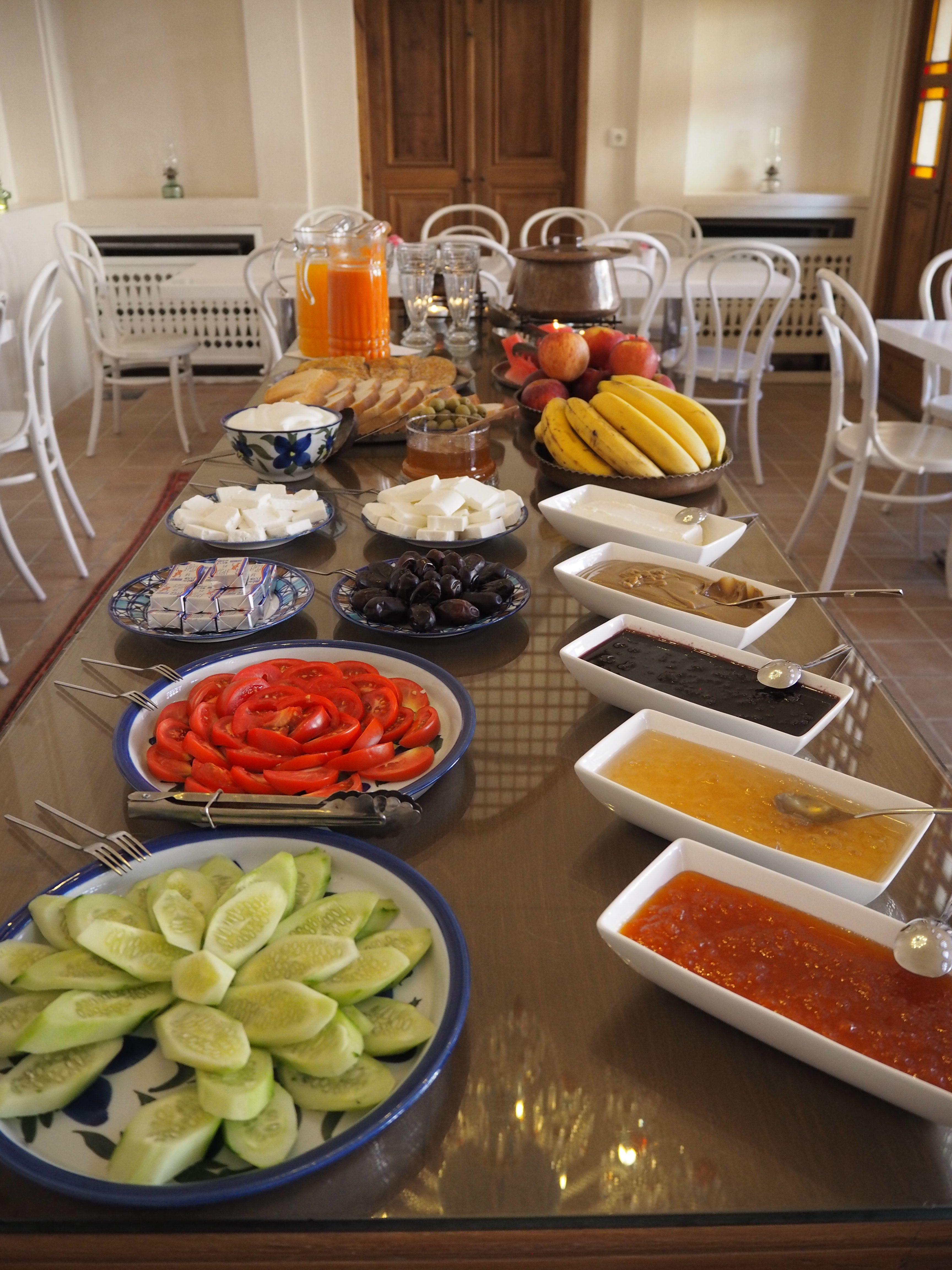 breakfast in Manouchehri House in Kashan