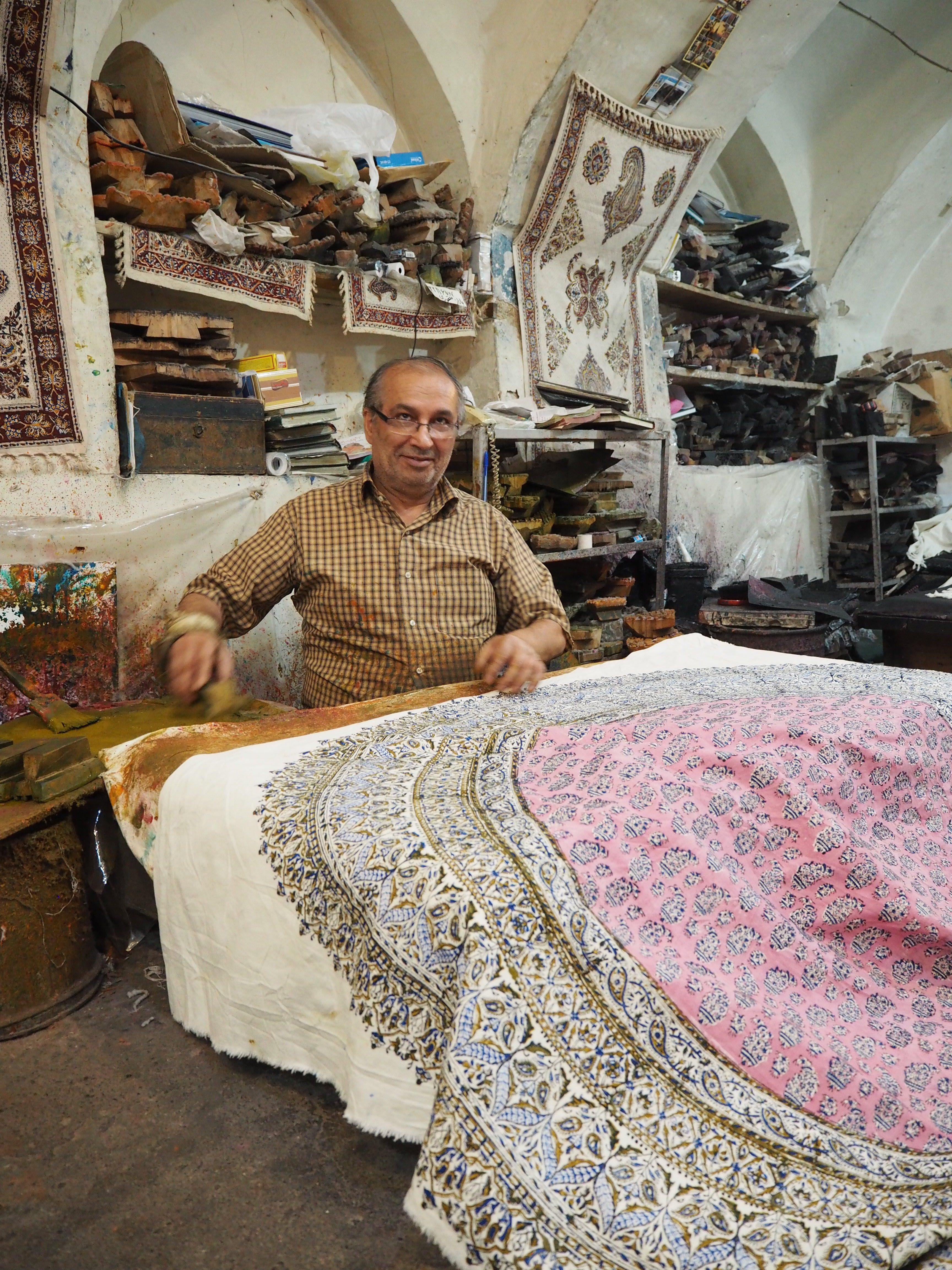 visiting a workshop in Esfahan
