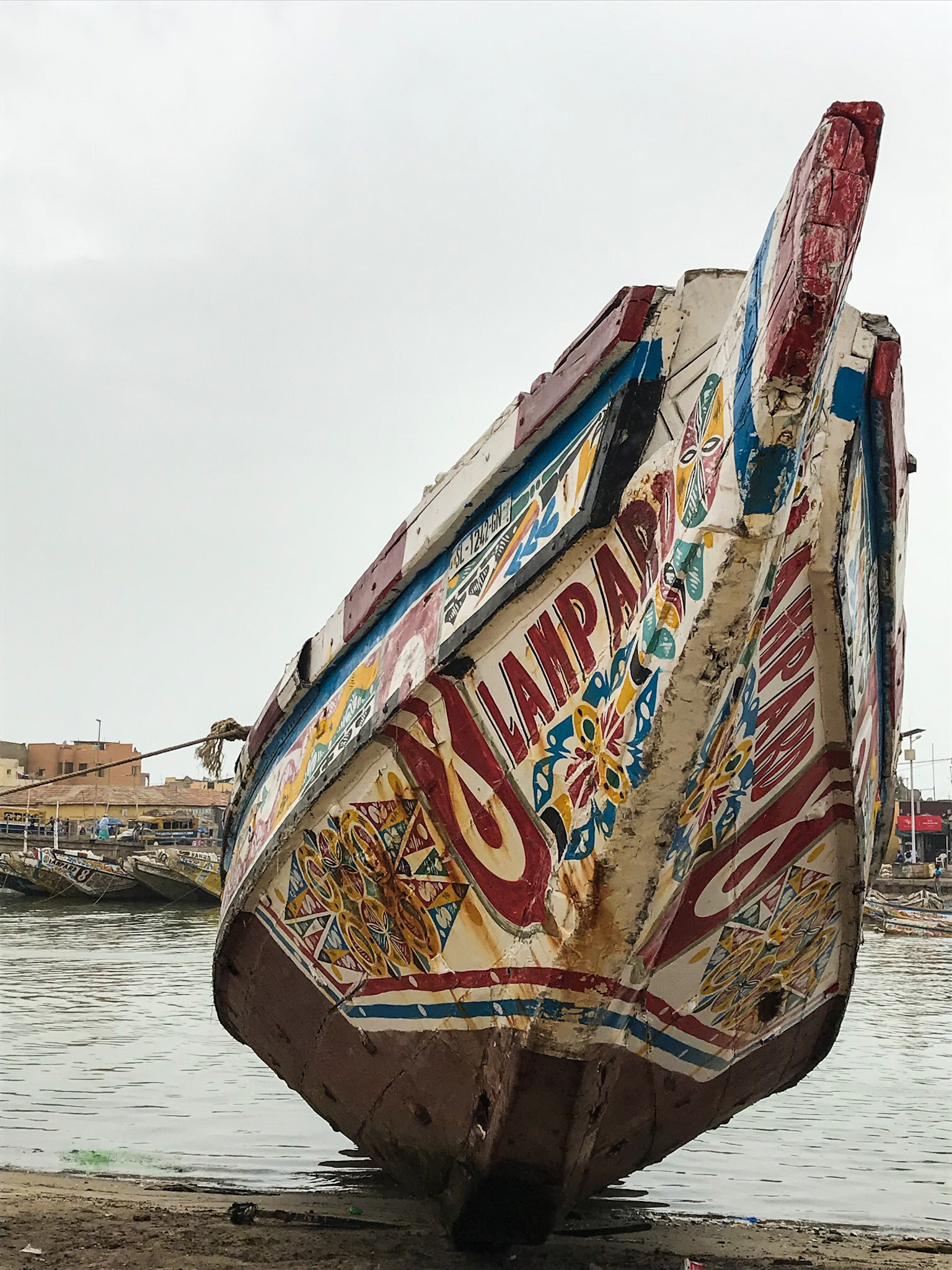 Colourful boat in St Louis, Senegal