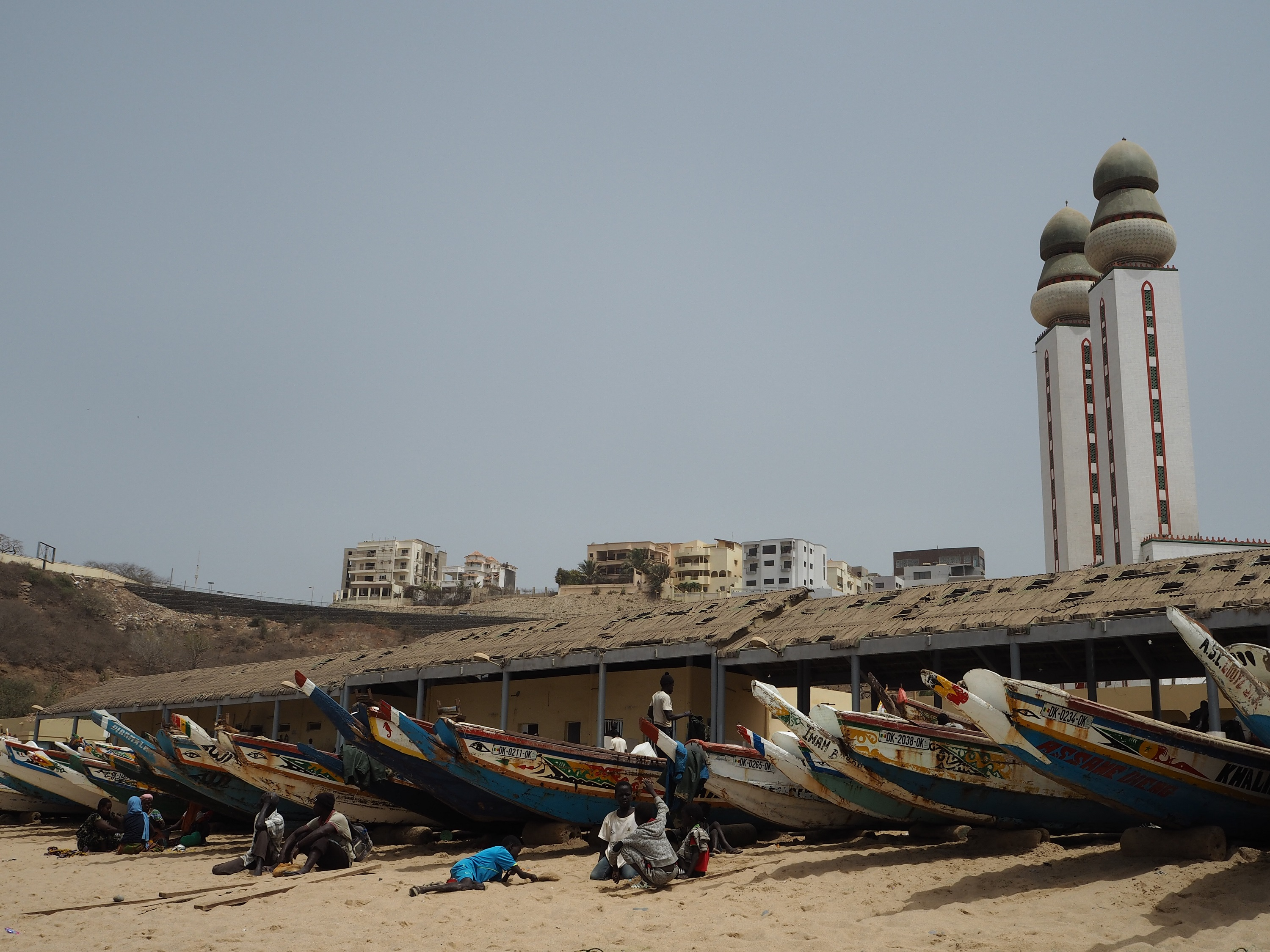 Boats on the beach in Senegal
