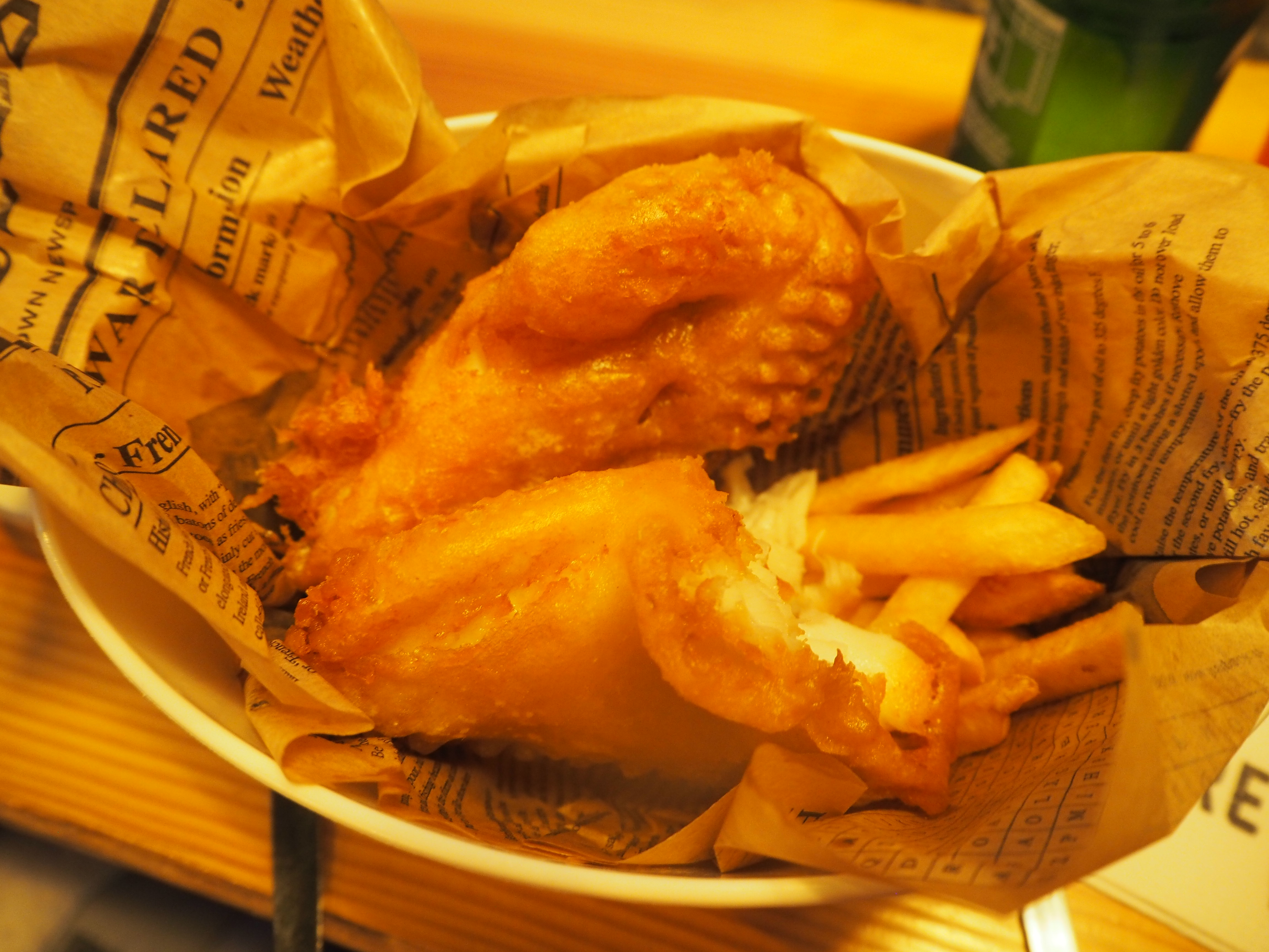 the most expensive fish + chips I've ever eaten!
